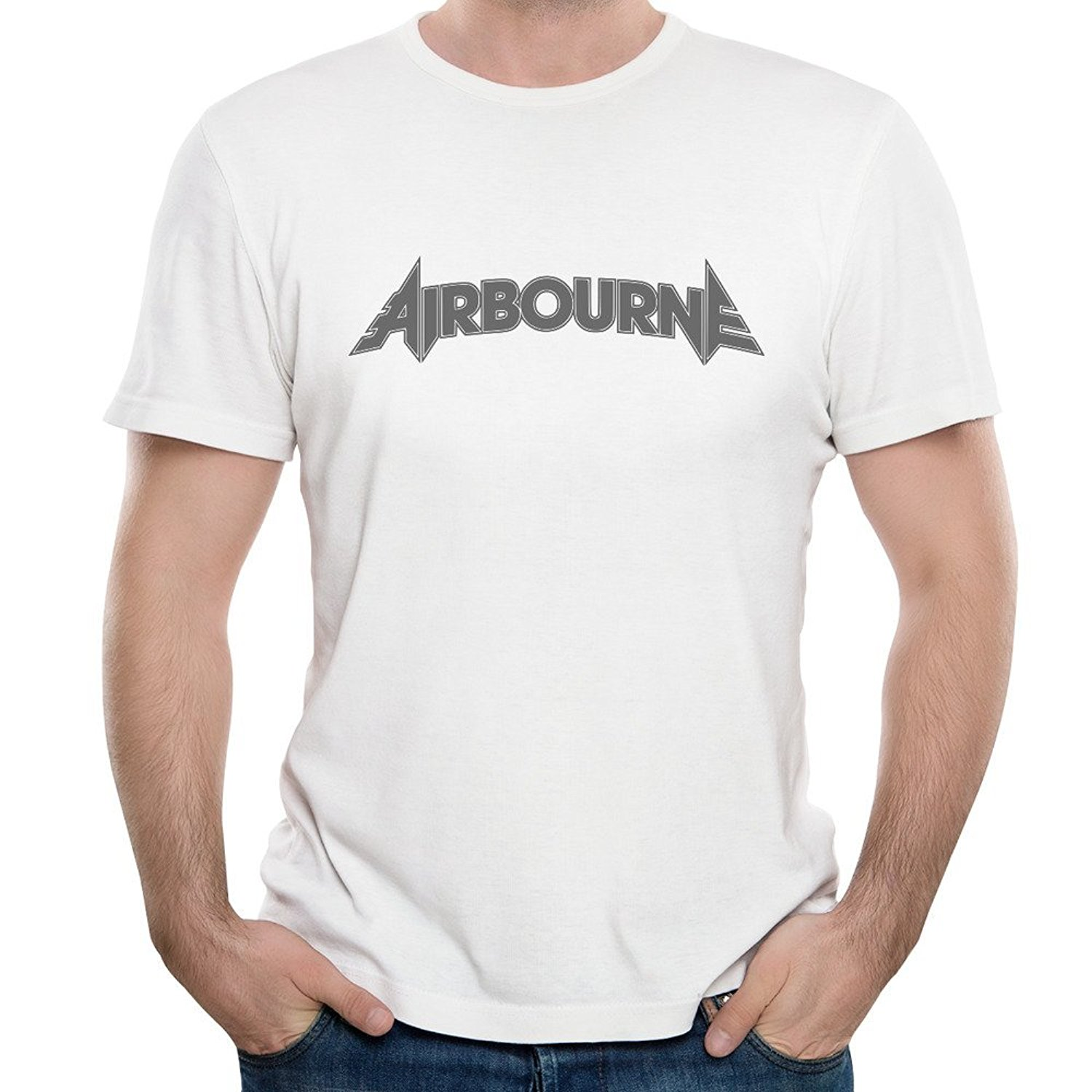 Mens Rock Band Airbourne Song Live It Up Crew Neck Gift Short Sleeve Top Tees