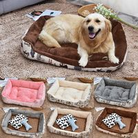 Soft Dog Beds Warm Fleece Lounger Sofa For Small Dogs Large Dogs Big Blanket Cushion Basket