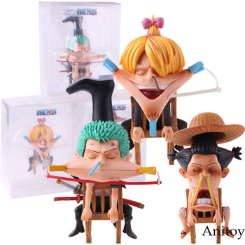 Anime una pieza mono durmiendo D Luffy Roronoa Zoro Vinsmoke Sanji una pieza figura de PVC juguete de modelos coleccionables