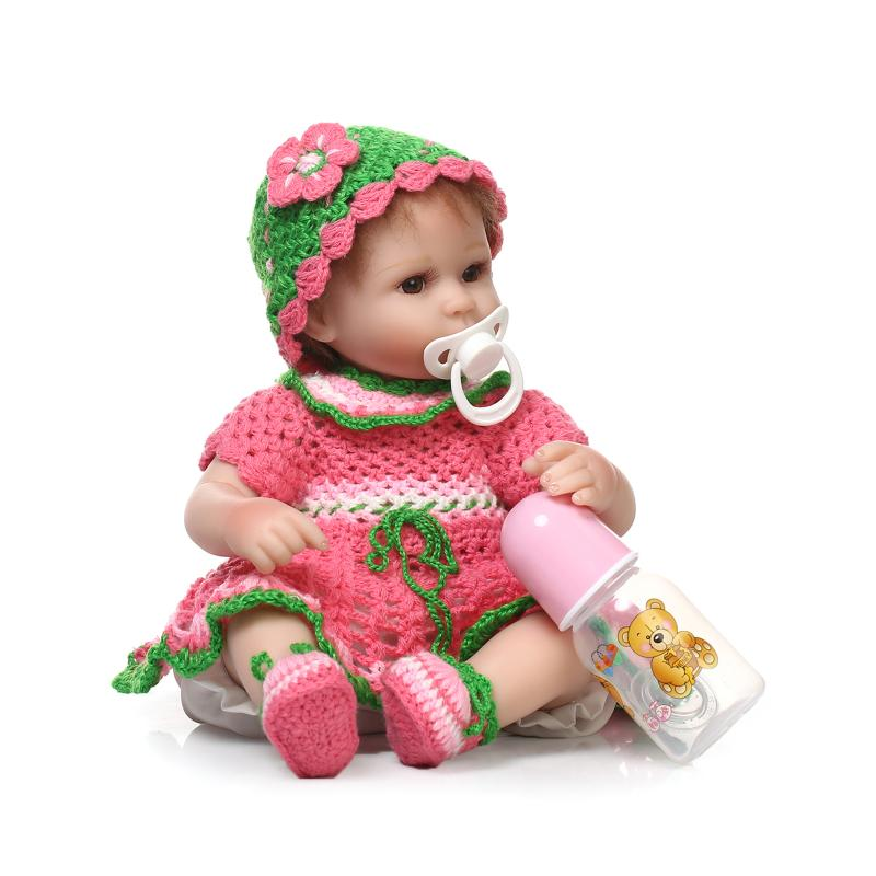ФОТО 40cm Silicone reborn baby dolls lifelike reborn babies girl fashionable Kid Christmas gift newborn baby brinquedos newest design