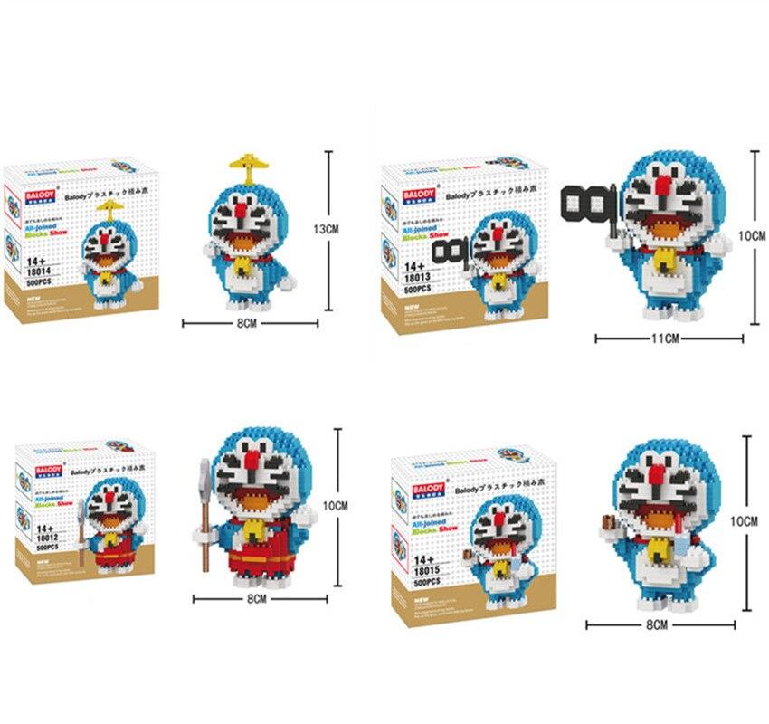 4pcs-lot-Balody-diamond-robot-cat-Anime-building-blocks-action-figure-boys-and-girs-DIY-animal