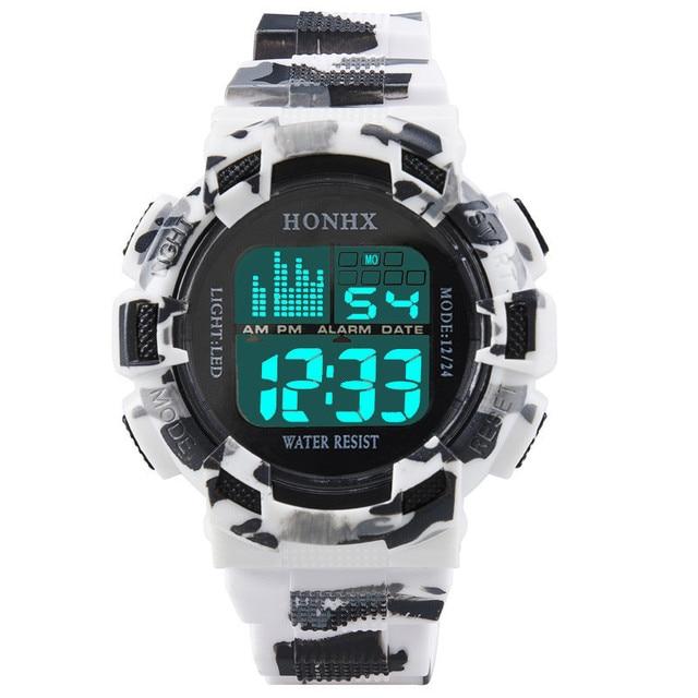 men watch 2017 gentleman clock  Mens Stainless Steel LED Digital Date Alarm Waterproof Sports Army Quartz Watch relogio 170410