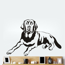 Lying Labrador Dog Wall Decal Cute Pet Dog Vinyl Wall Sticker Removable Mural Home Decor For Bedroom