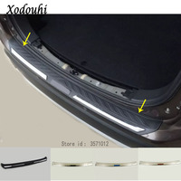 For Mitsubishi Outlander 2016 2017 2018 High quality car external rear bumper panel trunk trim cover Stainless Steel plate pedal