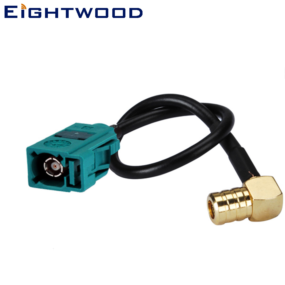 """Eightwood DAB Car Aerial Cable SMB to Fakra Cable SMB Connector Fakra/""""Z/"""" Male to"""
