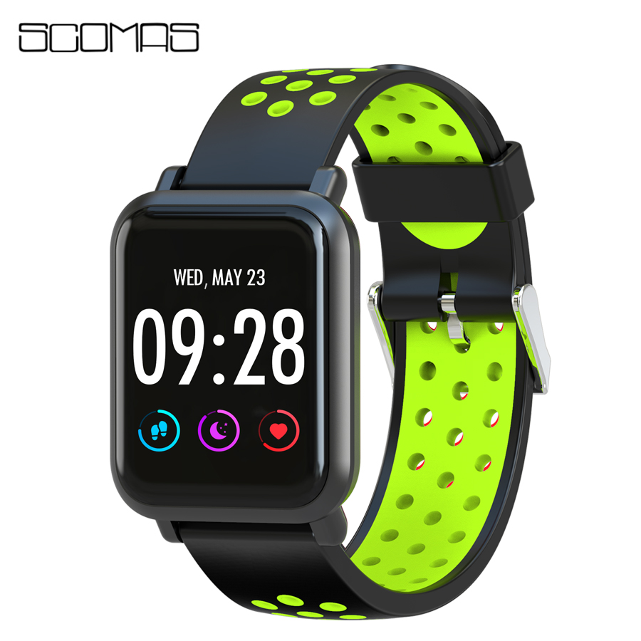SCOMAS S60 Smart Watch 1.3IPS 2.5D 9H Glass Screen IP68 Swimming Waterproof Blood oxygen pressure BRIM Monitor Smartwatch