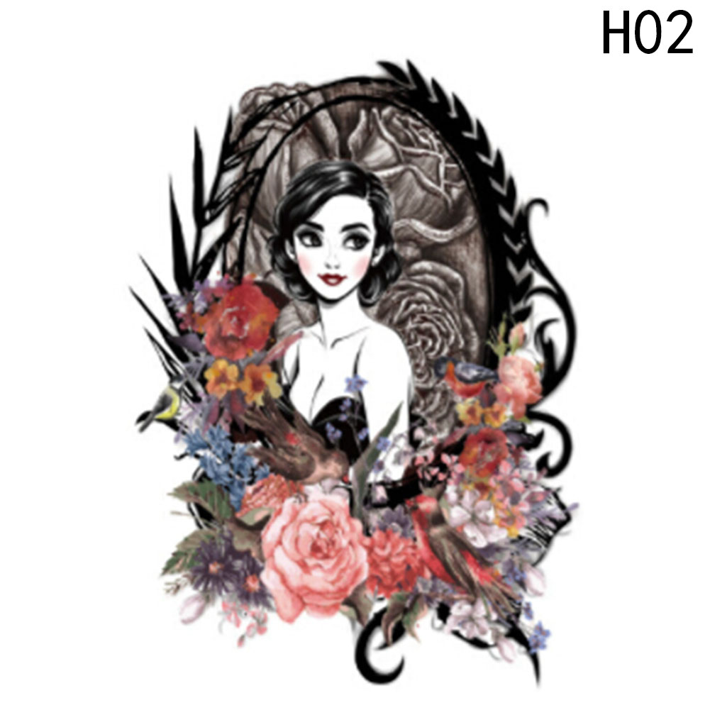 New 1 pc Temporary Tattoo Stickers Flower Arm Body Art Waterproof Tattoo Beauty Fox Women Coquette Decal Design