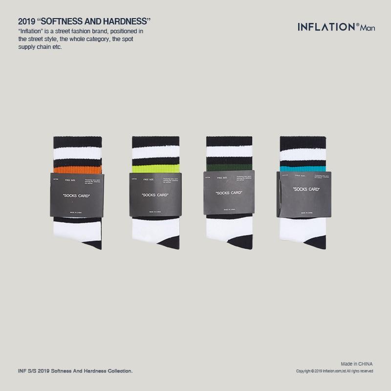 INFLATION Fashion Socks For Men 2019 Mens Funny Socks Cotton Hip Hop Socks For Couples  946AI2019