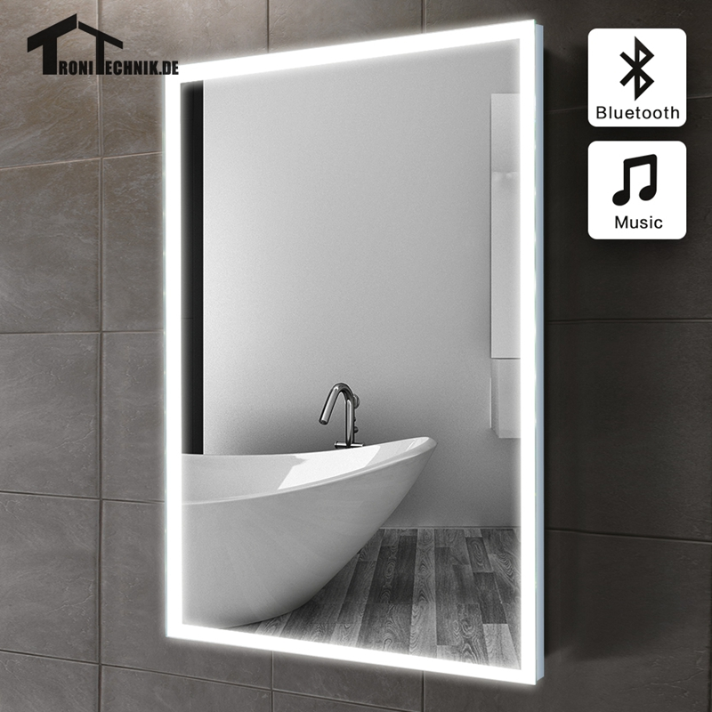 60x80cm Bluetooth ILLUMINATED LED bath mirror in bathroom piegel badkamer GLASS MIRROR Bathroom mirror Wall IP44 E102B 90-240v биркс д сцинтилляционные счетчики