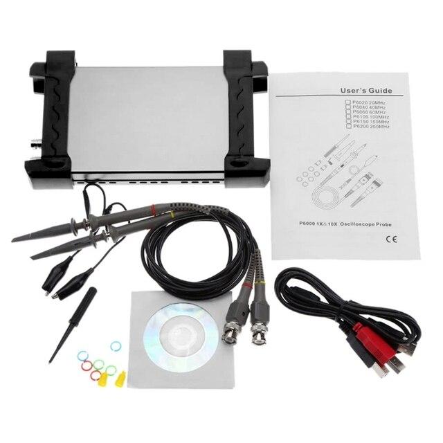 Big Promo Hantek 6022BE  20MHz Bandwidth 48MSa/s PC Based USB Digital Storage Oscilloscope