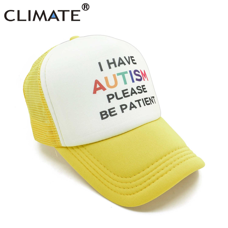 Климата аутизма детей Детская кепка, пожалуйста, будьте терпеливы, у меня аутизм Кепка-бейсболка аутистов детский с рисунком летняя сетчатая Кепка кепки в стиле хип-хоп