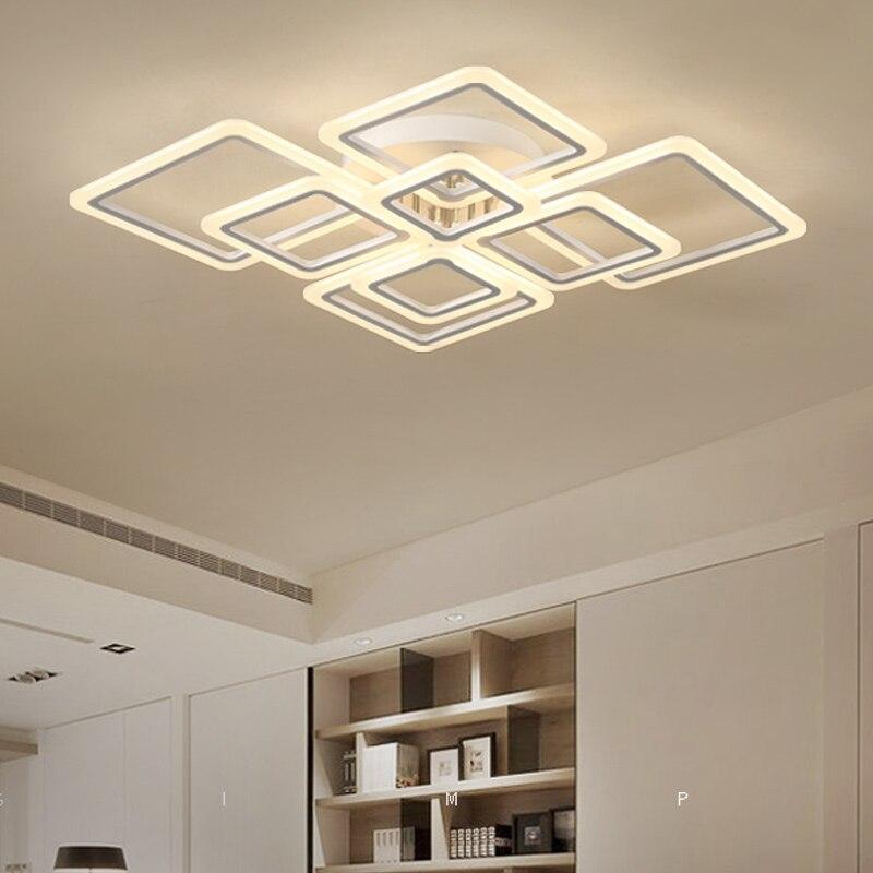 Modern acrylic LED ceiling lights Square frames frames large luxury ceiling lamp for living dining bedroom led lamp luster avize