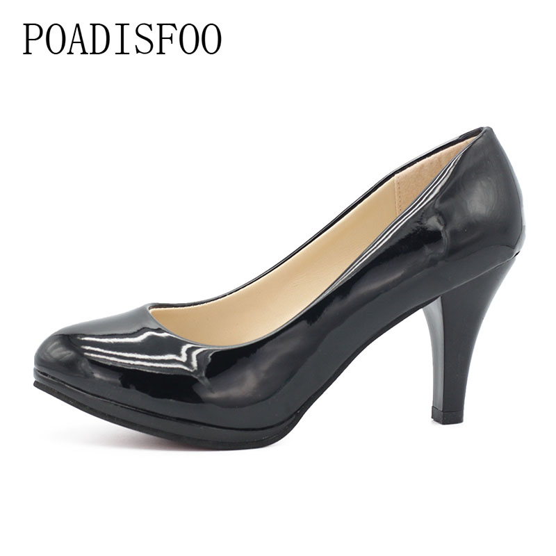 POADISFOO 2018 New Womens OL Pumps High heels thin heels Point Toe  New Womens Classic Pumps Shoes for Woman.LSS-8035