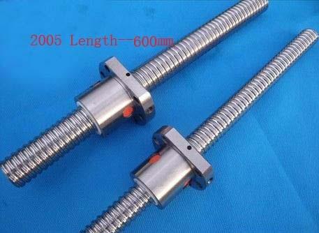 Acme Screws Diameter 20 mm Ballscrew SFU2005 Pitch 5 mm Length 600 mm with Ball nut CNC 3D Printer PartsAcme Screws Diameter 20 mm Ballscrew SFU2005 Pitch 5 mm Length 600 mm with Ball nut CNC 3D Printer Parts