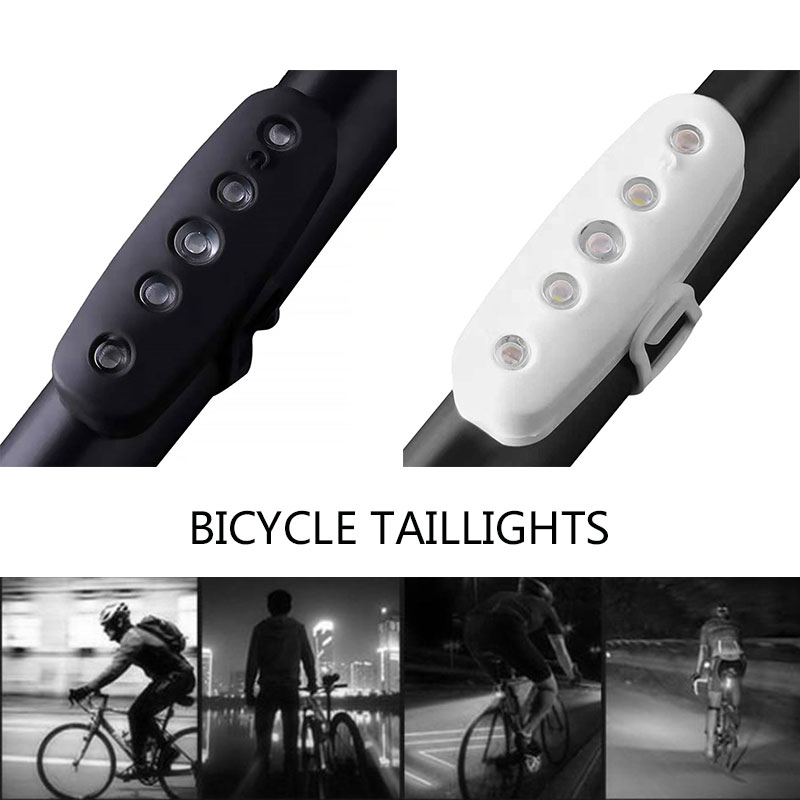 2018 USB Rechargeable Bicycle Rear Light Cycling LED Taillight Waterproof IPX5 MTB Road Bike Tail Light Back Lamp for Bicycle