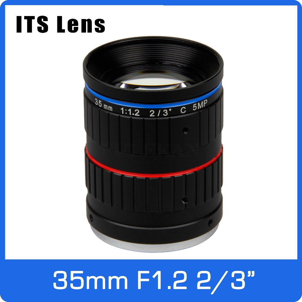 2/3 Inch 5mp Its Lens 35mm Ultra Starlight F1.2 C Mount For Electronic Police Or Traffic Camera Pleasant In After-Taste Video Surveillance Cctv Parts