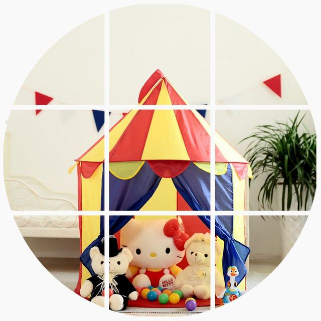 Kid Tents Part - 31: Hot Portable Colorful Prince Foldable Tipi Camping Toy Tent Kids Children  Castle Cubby Play House For