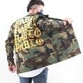 Светло-Голубой Джинсовой Куртки Kanye West ПАБЛО Альбом Сувенир Heybig Swag Clothing Уличная Мода Хип-Хоп мужчины жан Куртки Китай Размер