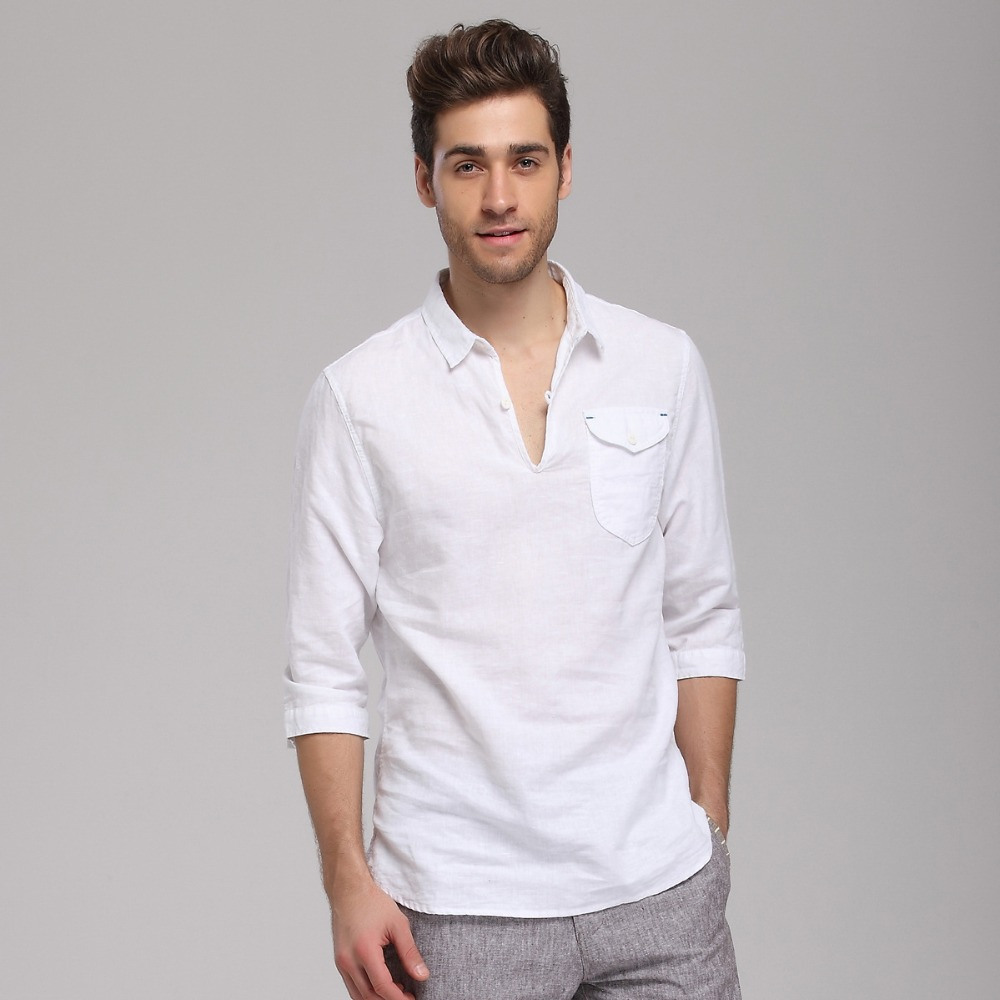 Cotton Shirt Mens White