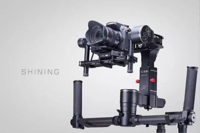 EM Estoque!!! Zhiyun Brilhando Profissional Estabilizador Handheld 3-axis Gimbal Para DSLR Camera Suporte 4 KG PK Guindaste EC1 DHL EMS livre
