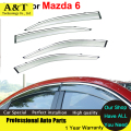 A & T do Windows viseira car styling Carro-Styling Toldos Abrigos de Chuva Sol Pala janela Para Mazda 6 2009 2011 2012 Adesivos Covers Acce