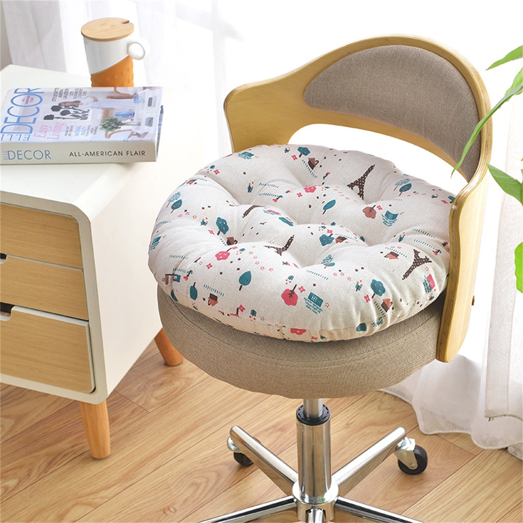 Chair Cushion Round Cotton Upholstery Soft Cushion Padded Office Home Car Seat Cushion decorative cushion chair pads kids-in Cushion from Home & Garden