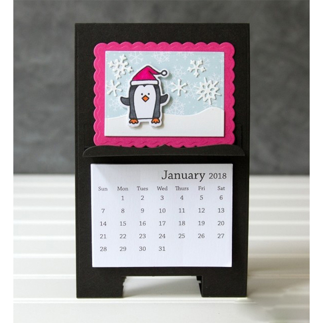 Desk Calendar Stand Metal Cutting Dies Stencil for DIY Scrapbooking