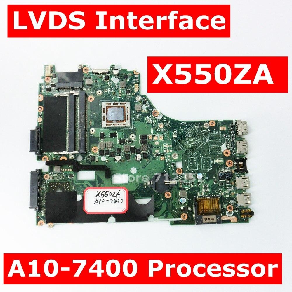 X550ZA A10-7400 CPU Carte Mère REV 2.0 Pour ASUS X550ZA X550ZE X550Z X550 K550Z X555Z VM590Z carte mère pour ordinateur portable GM 100% Testé