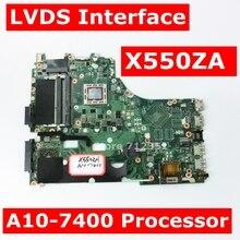 X550ZA A10 7400 CPU Mainboard Tái Bản Năm 2.0 Cho ASUS X550ZA X550ZE X550Z X550 K550Z X555Z VM590Z Laptop Bo Mạch Chủ GM 100% Được Kiểm Tra