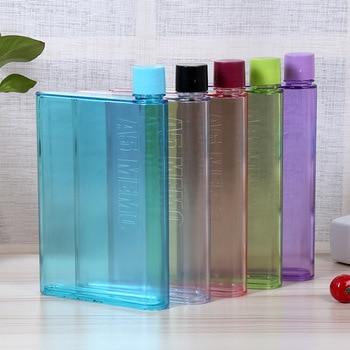 New simple 325ml / 420ml color flat water bottle square bottle kettle plastic bottle fashion sports bottle