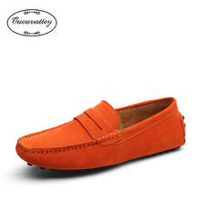 2016 Mens Shoes Casual Fashion Peas Shoes Suede Leather Men Loafers Moccasins Slip On Men's Flats Male Driving Shoes