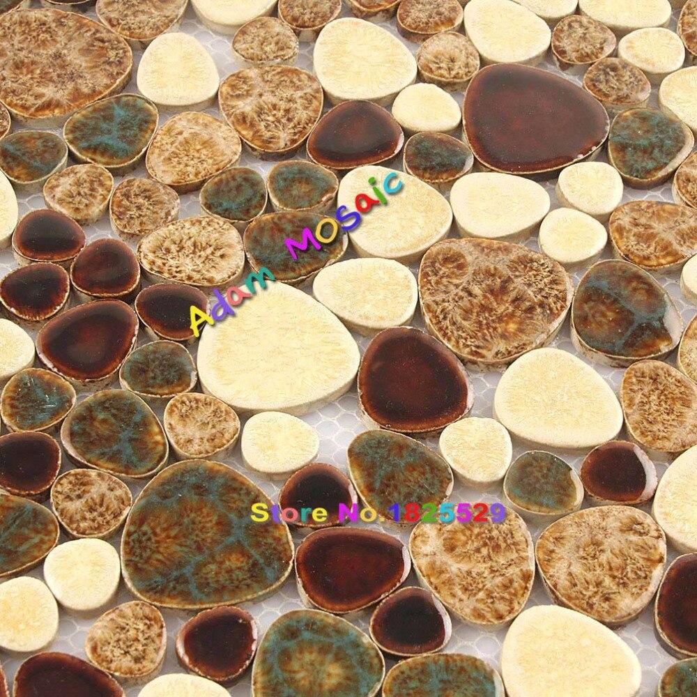 Leopard Pebble Tiles Porcelain Bathroom Cobble Stone Floor Tile ...