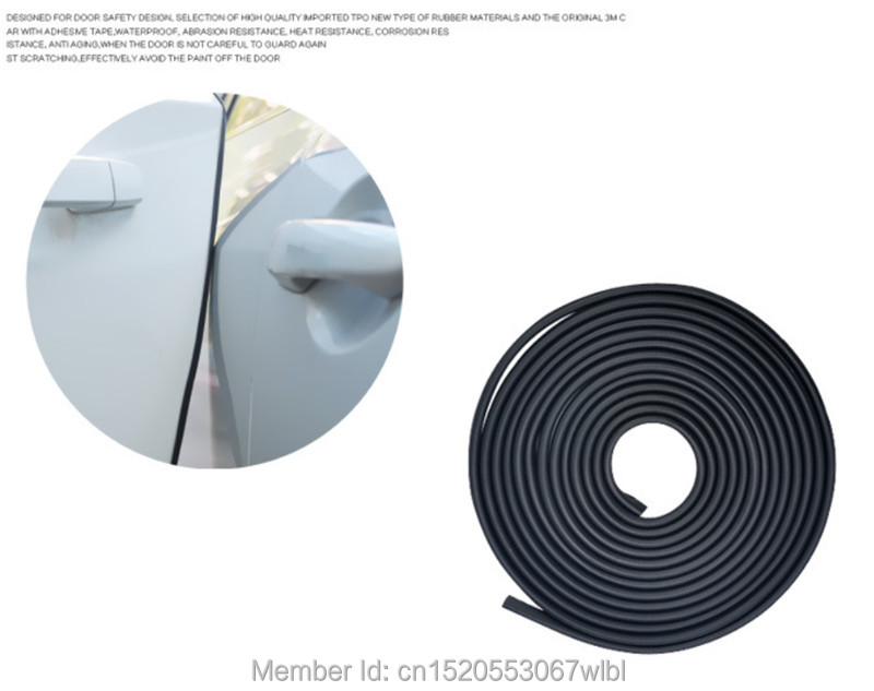 5M Door edge collision protection tape stickers Accessories Car-styling refitting for Land Rover discovery freelander defender