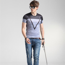 2016 Caliente de La Manera Marca camiseta hombre polo para hombre marcas gráfico camiseta de algodón de manga corta ropa para hombres envío gratis 17