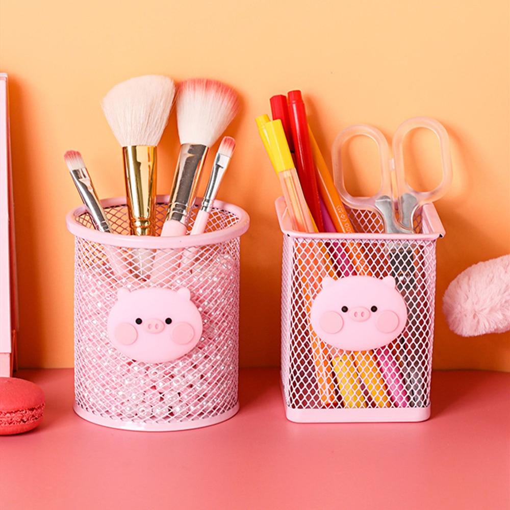 Pink Girl Desktop Pen Holder Office Storage Pen Pencil Pot Holder Container Desk Organizer Gift
