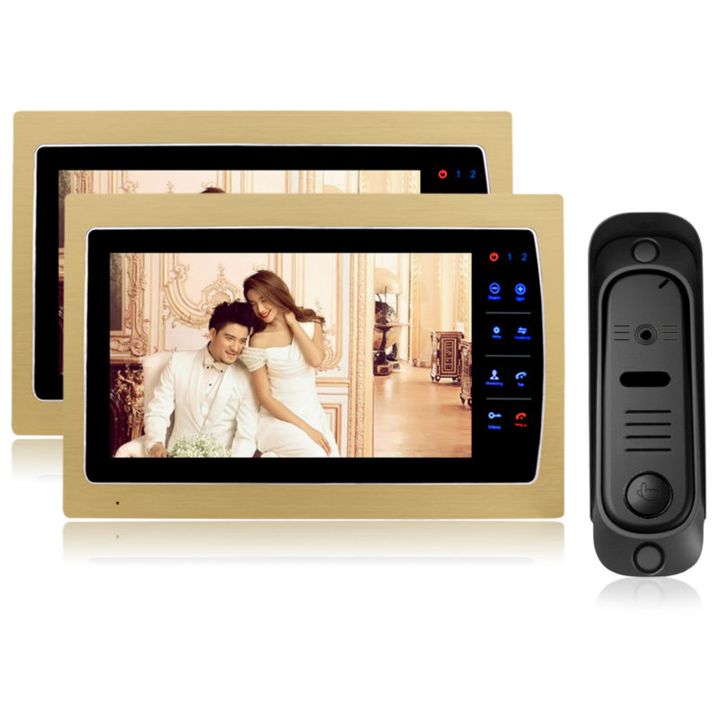 Homefong Video Intercom System 7 TFT White Color touch key Indoor Monitor with Outdoor font b