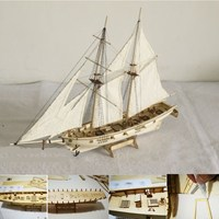 DIY 1 100 Scale Miniatura Wooden Small Sailboat Ship Kits Home Model Decoration Boat Puzzle Toys