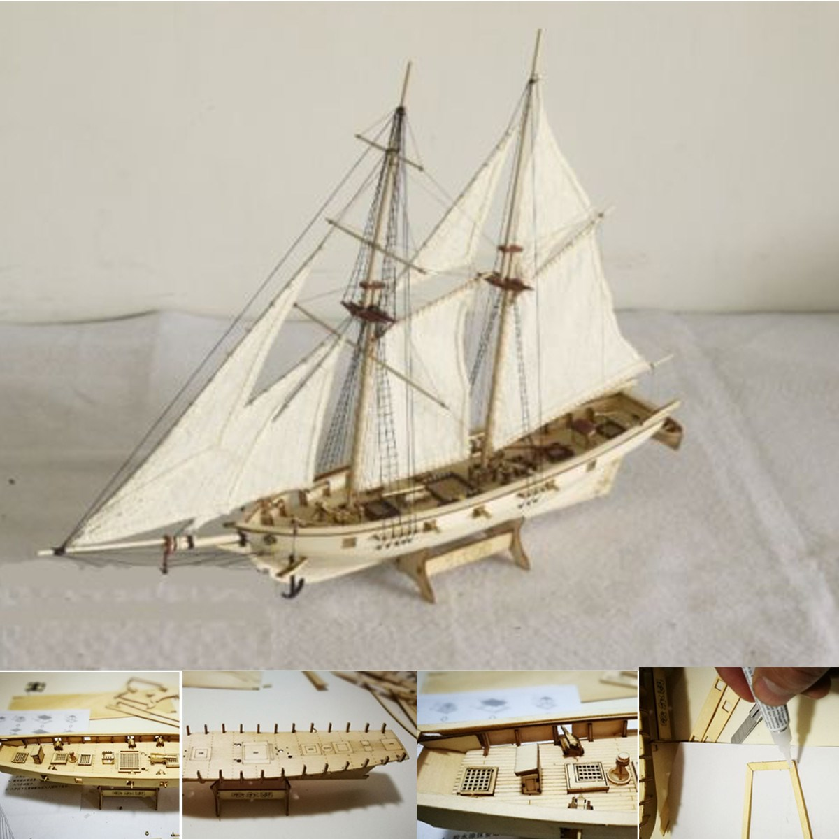 DIY 1:100 Scale Miniatura Wooden Small Sailboat Ship Kits Home Model Decoration Boat Puzzle Toys Gift For Children цена