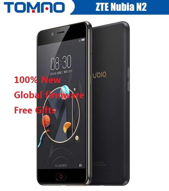 100% New 5.5'' Zte Nubia N2 Phone 4gb64gb 5000mah Cellphone 4g Lte Mt6750 Octa Core 16.0 Mp Fingerprint Smartphone Neovision 6.0 Choice Materials