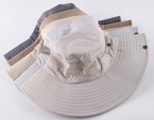 Men's Bob Summer Bucket Hats Outdoor Fishing Wide Brim Hat UV Protection Cap Men Hiking Sombrero Outdoor Gorro Hats For Men 5