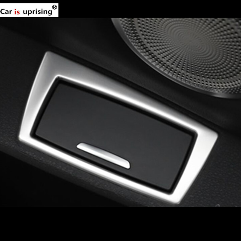 For BMW F48 car Refit Sticker Car door ashtray frame Accessories for BMW X1 2016-2018 Car styling
