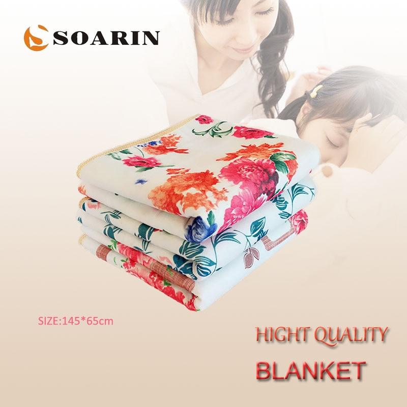 SOARIN Electric Blanket 140x60cm Electric Heating Blanket 220v Manta Electrica Synthetic Body Warmer Electric Mattress Blankets