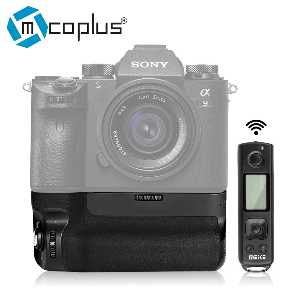 Mcoplus Meike MK-A9 Pro Vertical Batterie Grip avec 2.4 GHz À Distance Contrôleur pour Sony A9 A7RIII A7III A7 III caméra