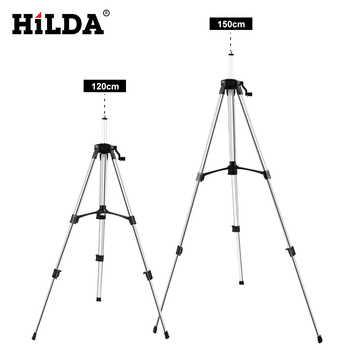 HILDA Laser Level Stativ Einstellbare Höhe Verdicken Aluminium Stativ Für Selbst nivellierung 1.2/1,5 m