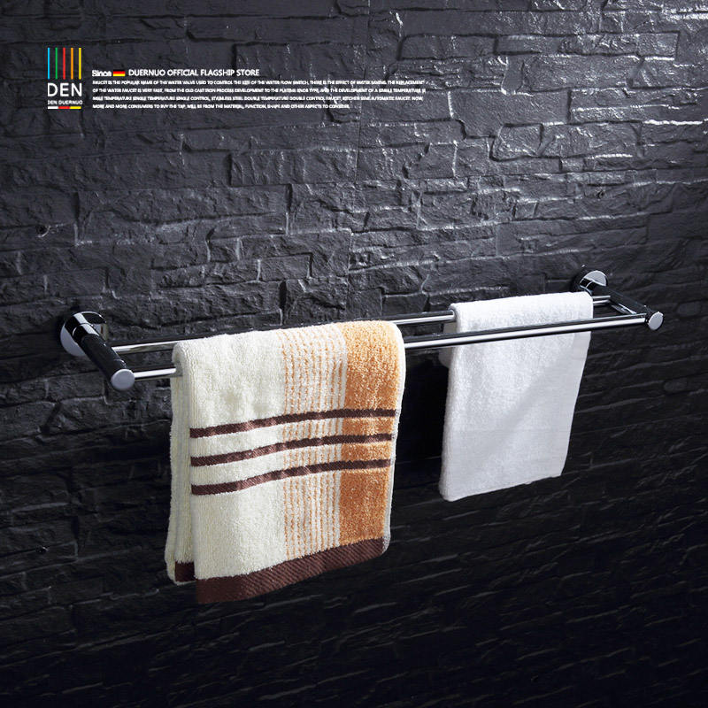 pole towel lever single-layer towel bath towel rack extended towel hang The bathroom bathroom hardware accessories lengthened thickening bathroom towel bar single lever rack free nail