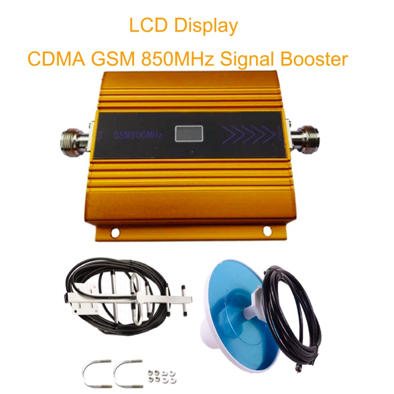 CDMA 850 Mhz Mobile Signal Amplifier 70dB GSM 850 Cell Phone Booster Full Kit Full Set CDMA GSM 850 Cellular Signal Repeater
