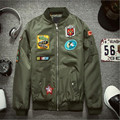 2016 Winter Mens Bomber Jacket Fashion Embroidery Cotton Padded Jacket and Coat P6009