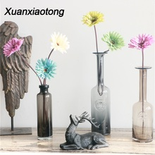 Xuanxiaotong 1pcs 48cm Long Stem Gerbera Artificial Flowers for Home party Decor Real Touch Outdoor Garden Decoration Flower