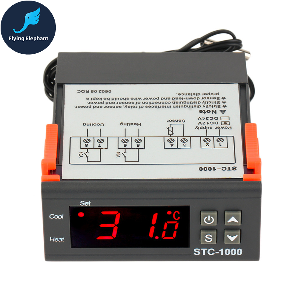 New 4000w Electronic Regulator Digital Control Thyristor For Fan Temperature Controlled Triac A An Scr Flipflop Stc 1000 Controller Aquarium Hatching Machine Two Relay Output Led 110v 220v