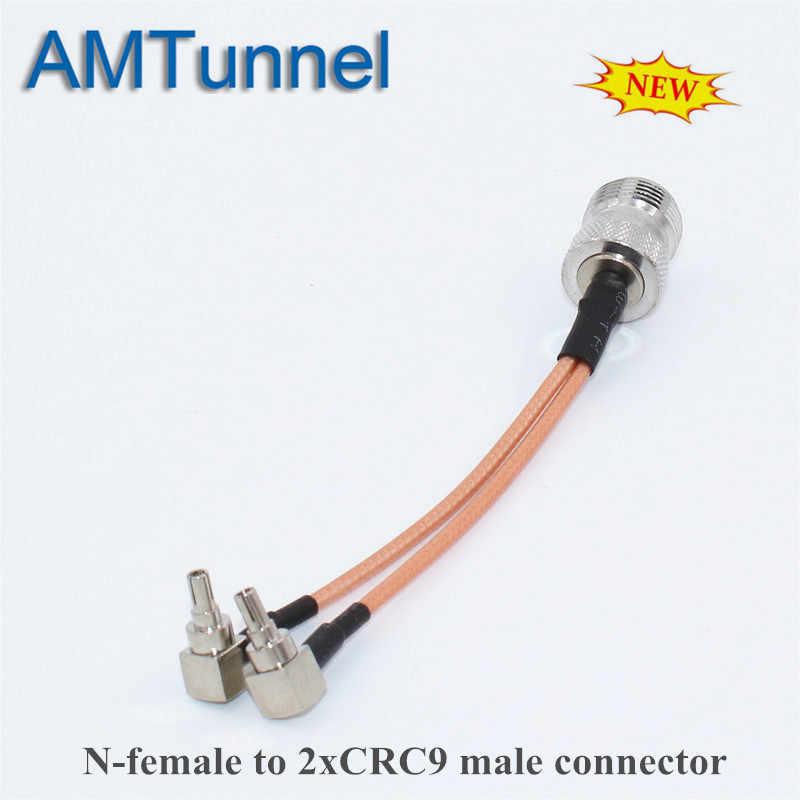 N dişi CRC9 konnektörü 4G LTE anten konnektör Splitter birleştirici RF koaksiyel Pigtail kablo için HUAWEI ZTE yönlendirici modem